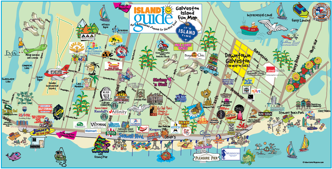 Fun Maps – Galveston Tourist Map