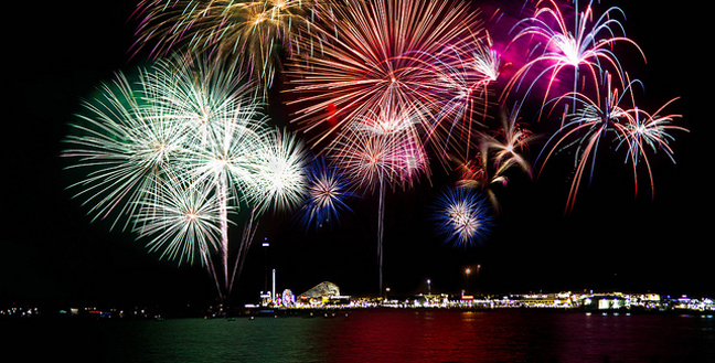 Galveston-Fireworks