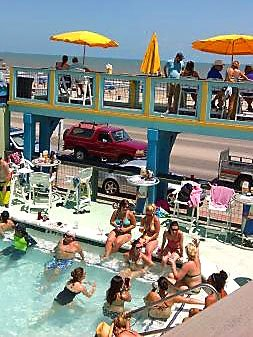 float galveston tx pool bar