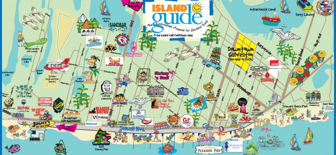 galveston fun map island guide magazine