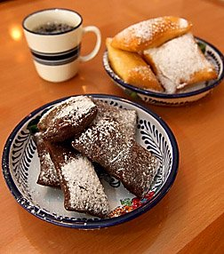Jennifer Reynolds/The Daily News Shrimp N Stuff Downtown is serving up chocolate beignets along with the traditional ones.