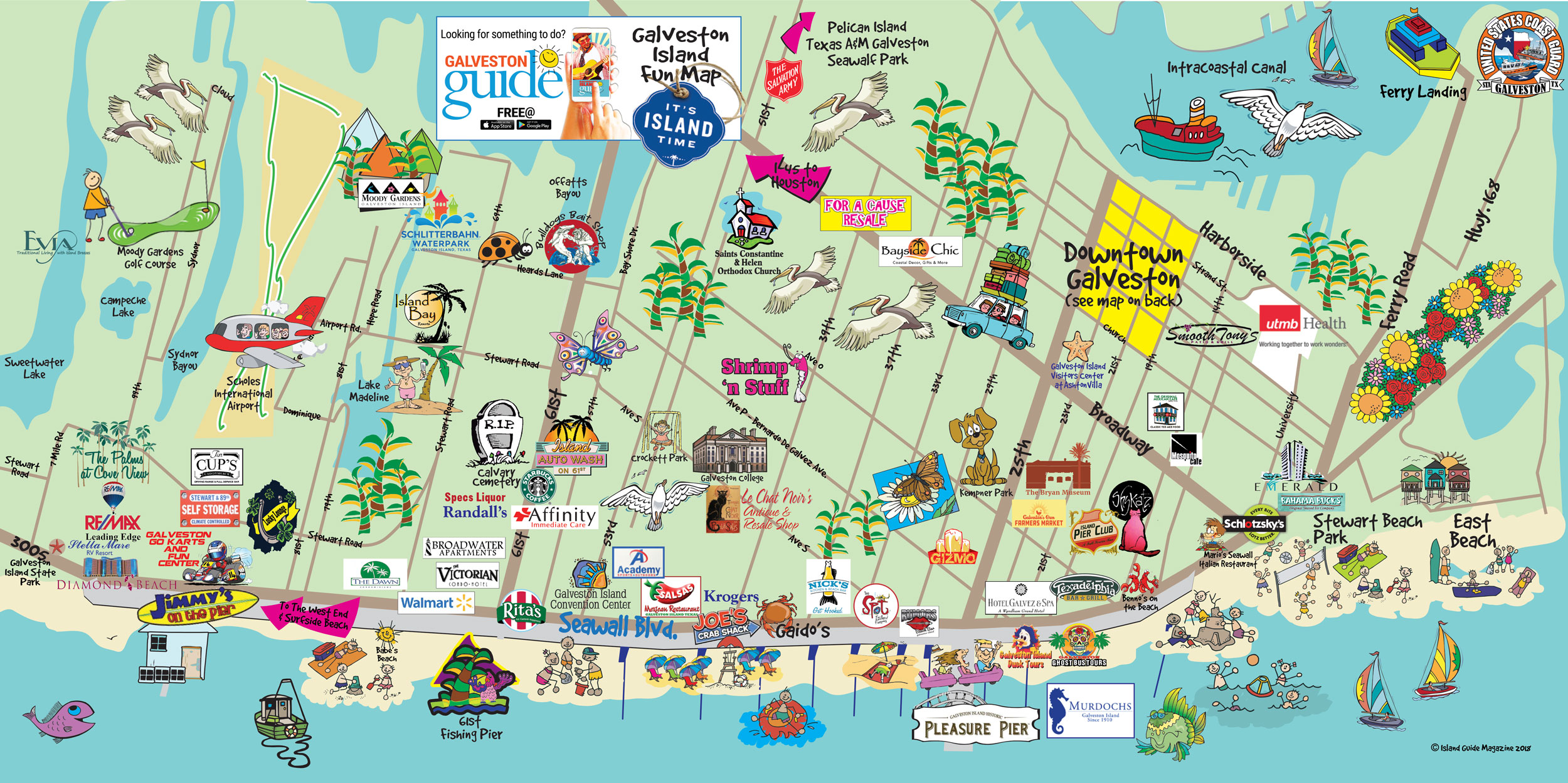 Galveston Fun Maps Galveston Island Guide